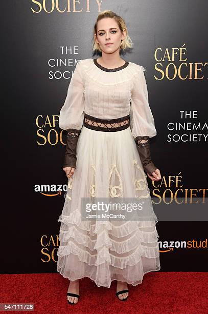 Kristen Stewart attends the premiere of 'Cafe Society' hosted by Amazon Lionsgate with The Cinema Society at Paris Theatre on July 13 2016 in New...