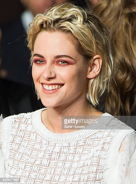Kristen Stewart attends the screening of 'Personal Shopper' at the annual 69th Cannes Film Festival at Palais des Festivals on May 17 2016 in Cannes...