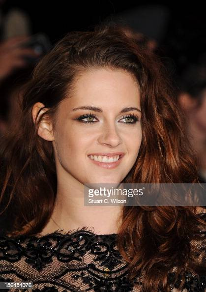 Kristen Stewart attends the UK Premiere of 'The Twilight Saga Breaking Dawn Part 2' at Odeon Leicester Square on November 14 2012 in London England