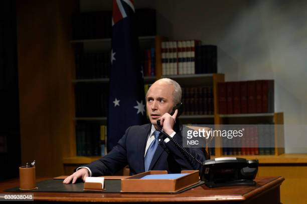 LIVE 'Kristen Stewart' Episode 1717 Pictured Beck Bennett as Australian Prime Minister Malcolm Turnbull during the Oval Office Cold Open on February...