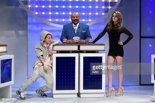 LIVE 'Kristen Stewart' Episode 1717 Pictured Kate McKinnon as Justin Bieber Kenan Thompson as Steve Harvey host Kristen Stewart as Gisele Bündchen...