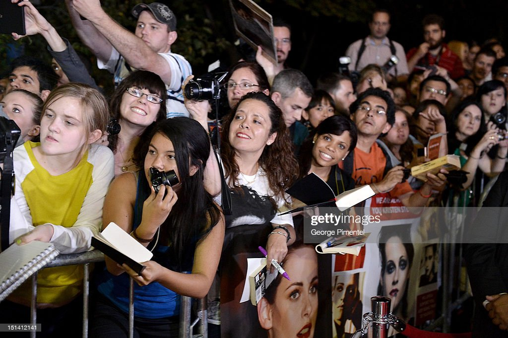 Kristen Stewart fans at the 'On The Road' premiere during the 2012 Toronto International Film Festivalon September 6, 2012 in Toronto, Canada.