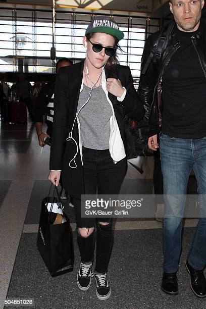 Kristen Stewart is seen at LAX on January 13 2016 in Los Angeles California