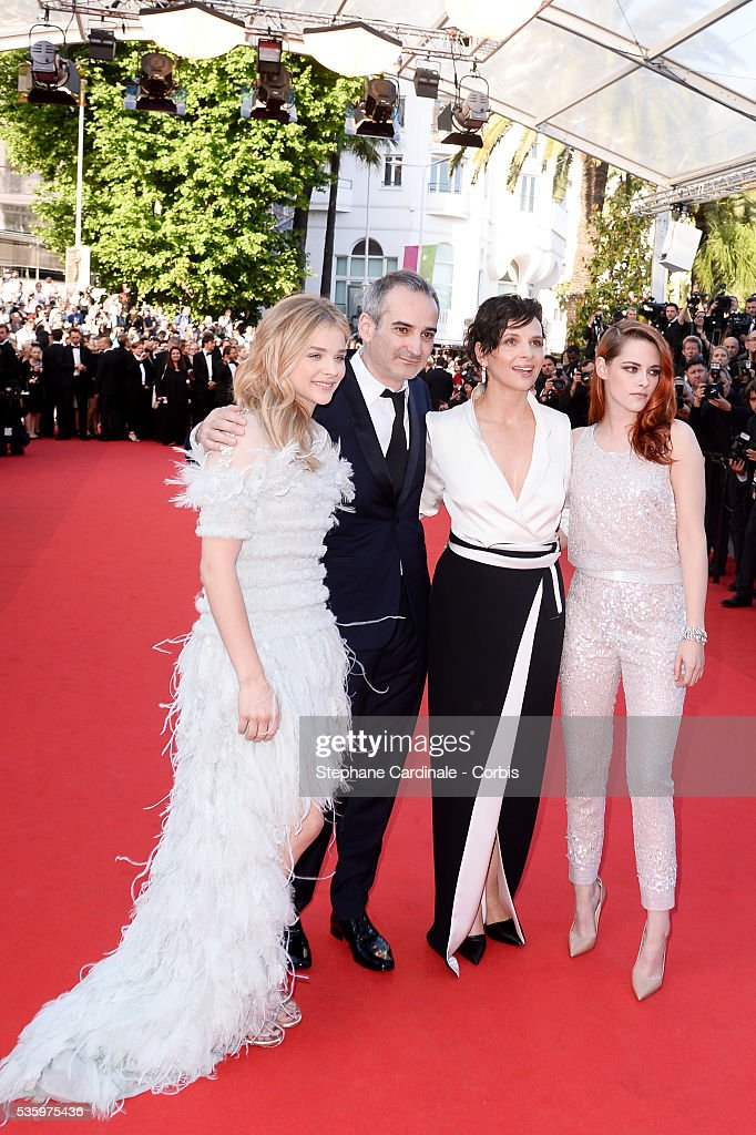 Kristen Stewart, Juliette Binoche, Olivier Assayas and Chloe Grace Moretz at the 'Clouds Of Sils Maria' Premiere at the 67th Annual Cannes Film Festival