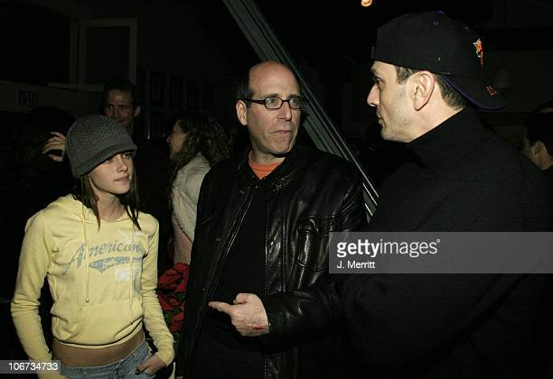 Kristen Stewart Matthew C Blank and Hank Azaria during 2004 Sundance Film Festival Showtime Party at The Riverhorse Cafe in Park City Utah United...