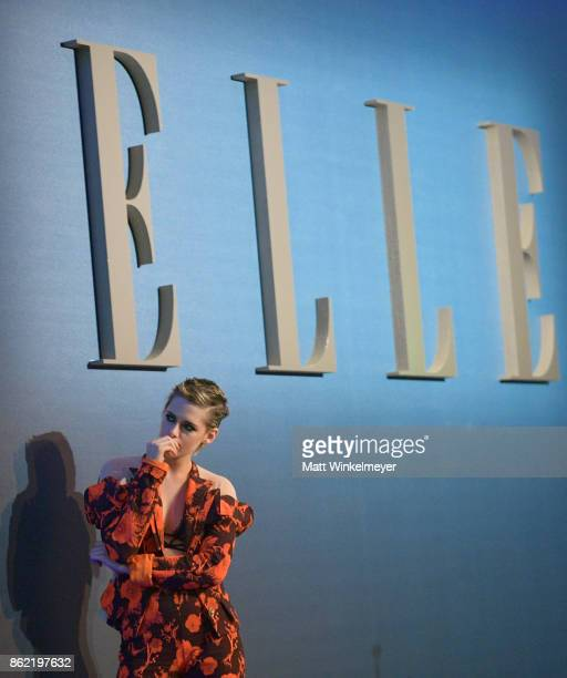 Kristen Stewart onstage at ELLE's 24th Annual Women in Hollywood Celebration presented by L'Oreal Paris Real Is Rare Real Is A Diamond and CALVIN...