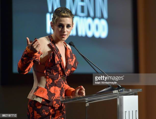 Kristen Stewart speaks onstage at ELLE's 24th Annual Women in Hollywood Celebration presented by L'Oreal Paris Real Is Rare Real Is A Diamond and...