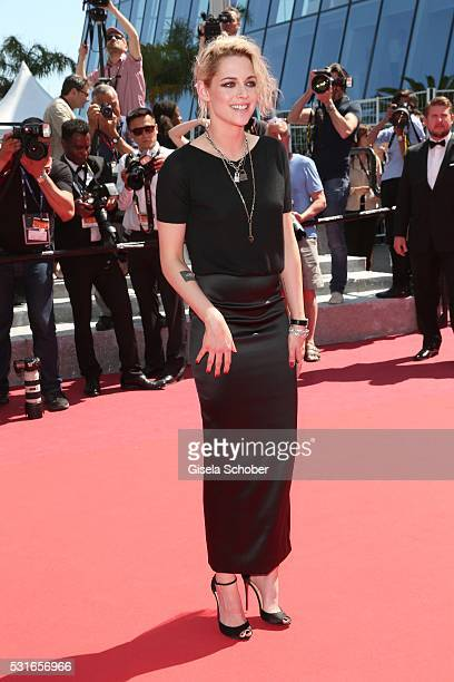 Kristen Stewart wearing Chanel during the 'American Honey' premiere during the 69th annual Cannes Film Festival at the Palais des Festivals on May 15...