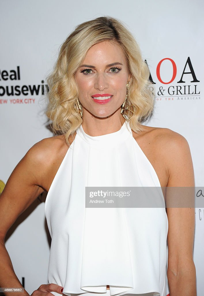 Kristen Taekman attends the 'Real Housewives of New York City' season 7 series viewing party at AOA Bar Grill on April 7 2015 in New York City