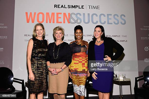 Kristen Van Ogtrop Linda McMahon Tamron Hall and Kristen AndersonLopez attend the TIME and Real Simple's Women Success event at the Park Hyatt on...
