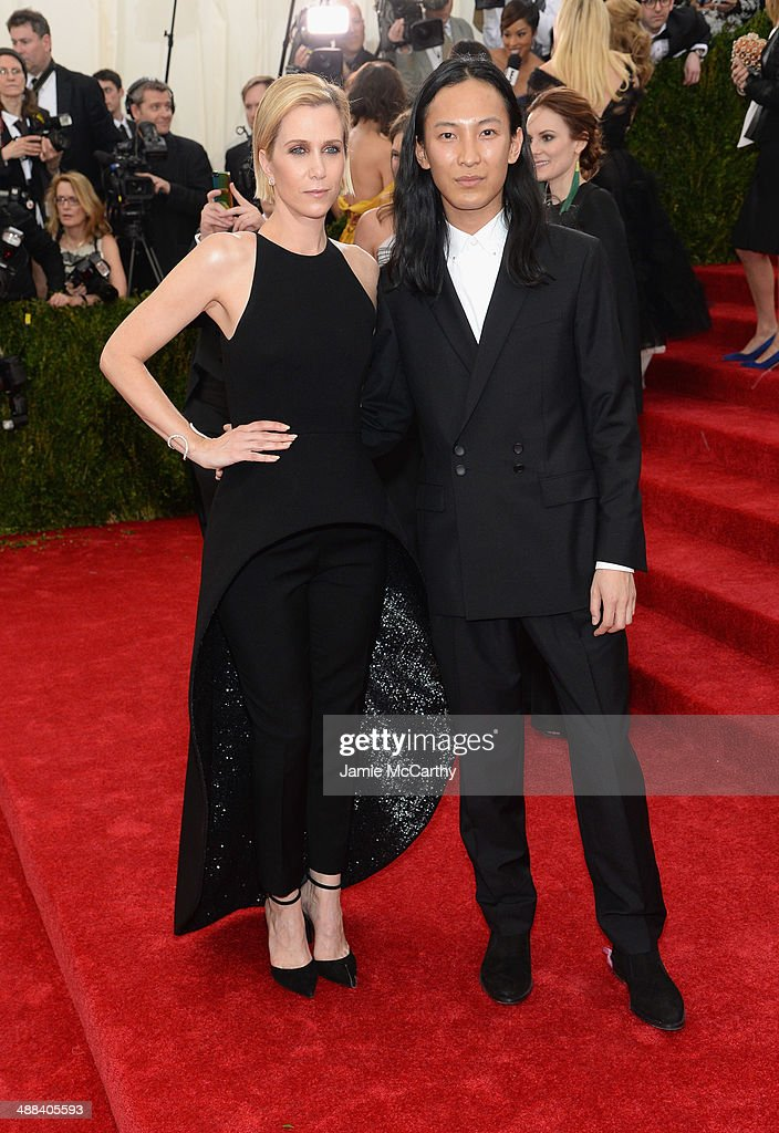 Kristen Wiig and Alexander Wang attend the 'Charles James: Beyond Fashion' Costume Institute Gala at the Metropolitan Museum of Art on May 5, 2014 in New York City.