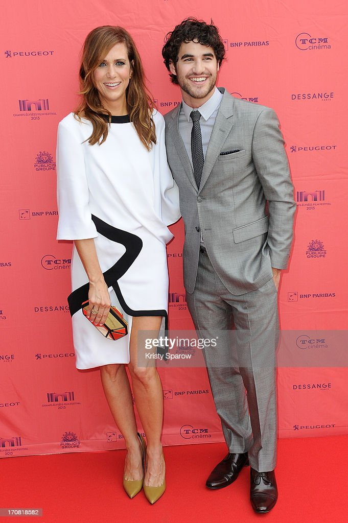 Kristen Wiig and Darren Criss attend the 'Imogene' Paris Premiere as part of The Champs Elysees Film Festival 2013 at Publicis Champs Elysees on June 18, 2013 in Paris, France.