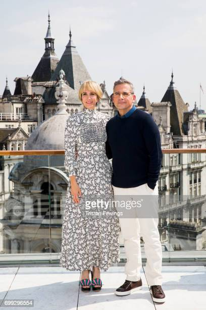 Kristen Wiig and Steve Carell attend a photo call in London to celebrate the release of DESPICABLE ME 3 on June 30th at Corinthia Hotel London on...
