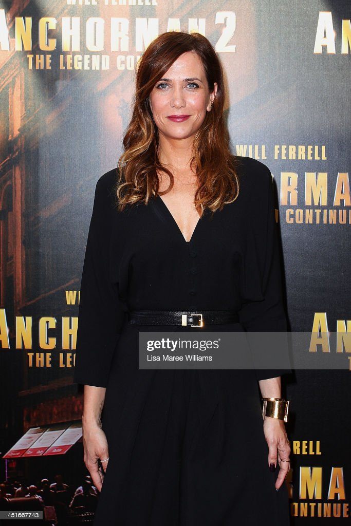 <a gi-track='captionPersonalityLinkClicked' href=/galleries/search?phrase=Kristen+Wiig&family=editorial&specificpeople=4029391 ng-click='$event.stopPropagation()'>Kristen Wiig</a> arrives at the 'Anchorman 2: The Legend Continues' Australian premiere at The Entertainment Quarter on November 24, 2013 in Sydney, Australia.