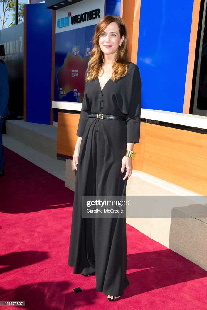 <a gi-track='captionPersonalityLinkClicked' href=/galleries/search?phrase=Kristen+Wiig&family=editorial&specificpeople=4029391 ng-click='$event.stopPropagation()'>Kristen Wiig</a> arrives at the 'Anchorman 2: The Legend Continues' Australian premiere on November 24, 2013 in Sydney, Australia.