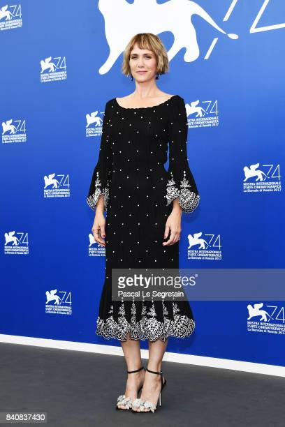 Kristen Wiig attends the 'Downsizing' photocall during the 74th Venice Film Festival at Sala Casino on August 30 2017 in Venice Italy
