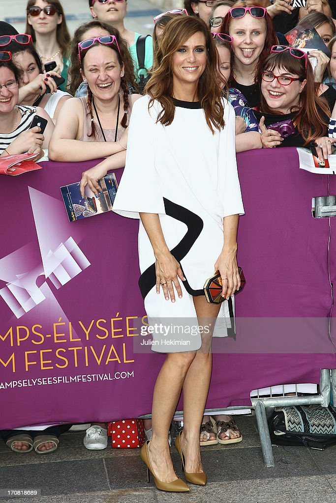 <a gi-track='captionPersonalityLinkClicked' href=/galleries/search?phrase=Kristen+Wiig&family=editorial&specificpeople=4029391 ng-click='$event.stopPropagation()'>Kristen Wiig</a> attends the 'Imogene' Paris Premiere As Part of The Champs Elysees Film Festival 2013 at Publicis Champs Elysees on June 18, 2013 in Paris, France.