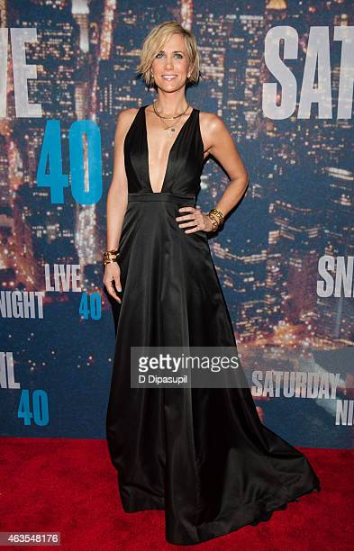 Kristen Wiig attends the SNL 40th Anniversary Celebration at Rockefeller Plaza on February 15 2015 in New York City