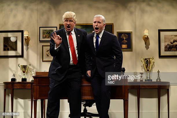 LIVE 'Kristen Wiig' Episode 1711 Pictured Alec Baldwin as Donald Trump and Beck Bennett as Mike Pence during the 'Donald Trump Prepares Cold Open'...