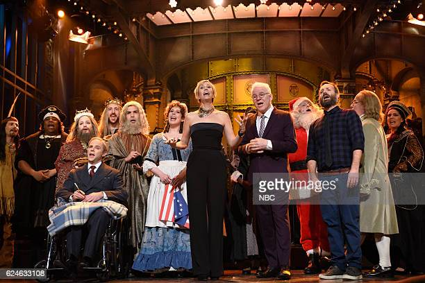 LIVE 'Kristen Wiig' Episode 1711 Pictured Kyle Mooney Kenan Thompson as Christopher Columbus Mikey Day as Franklin D Roosevelt and Vanessa Bayer as...