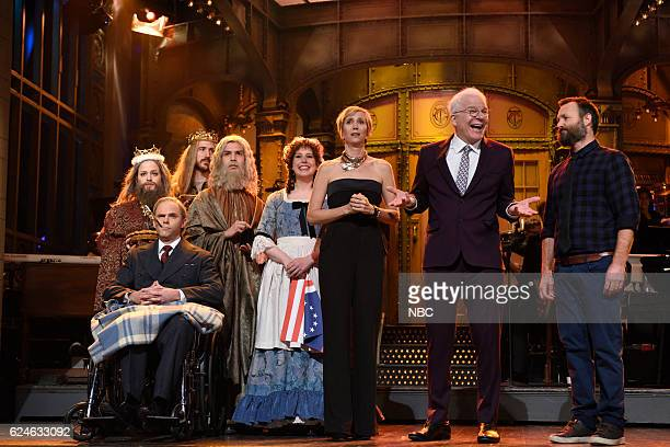 LIVE 'Kristen Wiig' Episode 1711 Pictured Mikey Day as Franklin D Roosevelt and Vanessa Bayer as Betsy Ross Kristen Wiig Steve Martin and Will Forte...