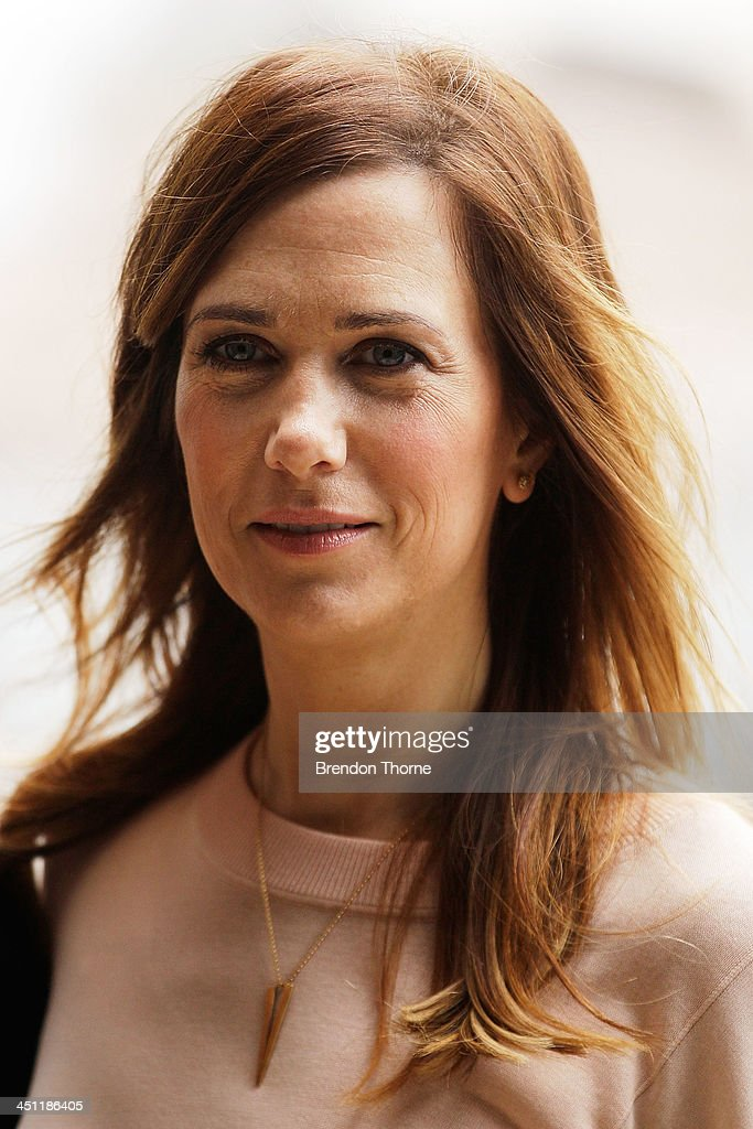<a gi-track='captionPersonalityLinkClicked' href=/galleries/search?phrase=Kristen+Wiig&family=editorial&specificpeople=4029391 ng-click='$event.stopPropagation()'>Kristen Wiig</a> poses during 'The Secret Life of Walter Mitty' photo call at the Park Hyatt on November 22, 2013 in Sydney, Australia.