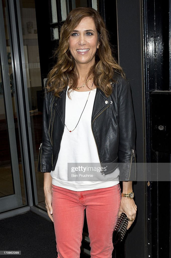 <a gi-track='captionPersonalityLinkClicked' href=/galleries/search?phrase=Kristen+Wiig&family=editorial&specificpeople=4029391 ng-click='$event.stopPropagation()'>Kristen Wiig</a> sighted at BBC Radio studios on June 20, 2013 in London, England.