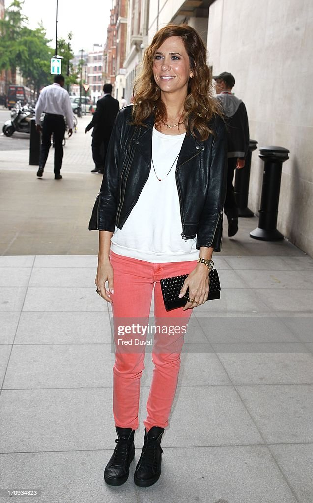 Kristen Wiig sighting outside BBC Radio One on June 20, 2013 in London, England.