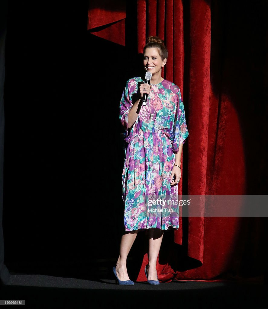 Kristen Wiig speaks at a Twentieth Century Fox presentation to promote the upcoming film 'The Secret Life of Walter Mitty' at Caesars Palace during CinemaCon, the official convention of the National Association of Theatre Owners on April 18, 2013 in Las Vegas, Nevada.