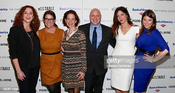 Kristi Jacobson Christina Grdovic Dana Cowin Tom Colicchio Lori Silverbush and Gail Simmons arrive at Bank of America and Food Wine with The Cinema...