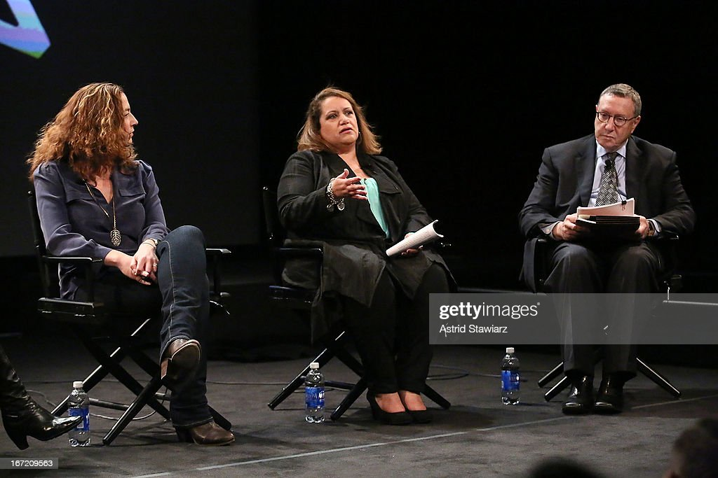 Kristi Jacobson, Cynthia Lopez and Norman Pearlstine attend the Tribeca Talks: The Business of Entertainment: Truth, Persuasion And Bias In Documentaries event at the 2013 Tribeca Film Festival on April 22, 2013 in New York City.