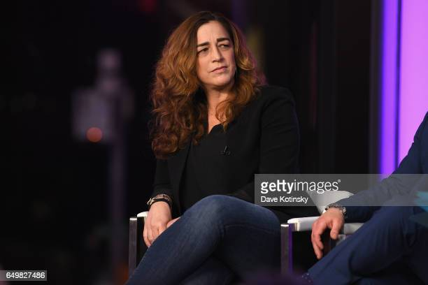Kristi Jacobson speaks onstage during TIME AND PUNISHMENT A Town Hall Discussion with JAY Z and Harvey Weinstein on Spike TV at MTV Studios on March...