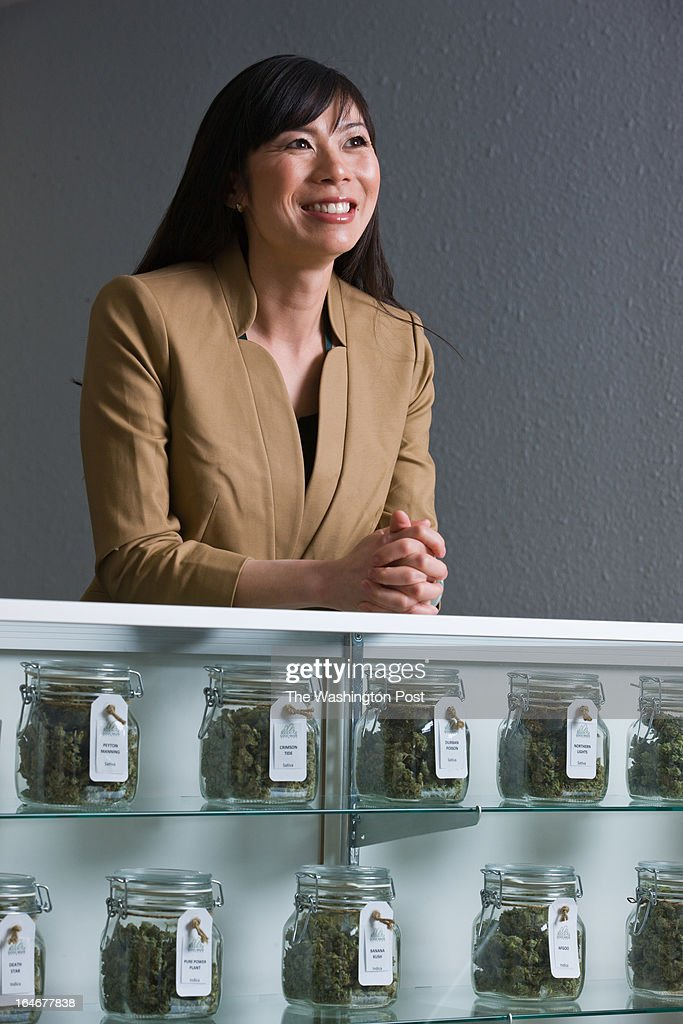 Kristi Kelly poses for a photograph inside a Good Meds medical cannabis center in Lakewood, Colorado, U.S., on Monday, March 4, 2013. This is at a Good Meds medical cannabis center in Lakewood, and is one of the facilities that Kristi Kelly, Co-Founder of Good Meds Network, operates.