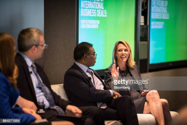 Kristi Kuechler president of FOX Private Investor Center right speaks during 'The Future of International Business Deals How to Position for LongTerm...