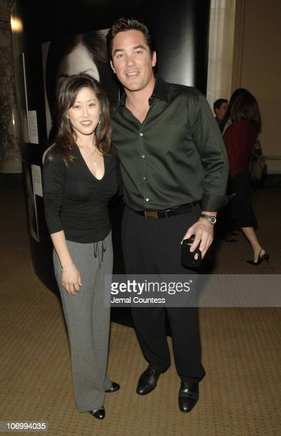 Kristi Yamaguchi and Dean Cain during American Lung Association Launches the Faces of Influenza Initiative at The W Hotel Union Square in New York...