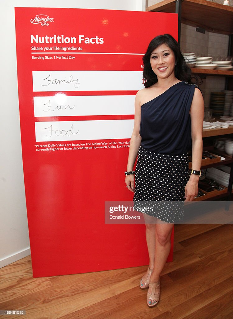 Kristi Yamaguchi attends the Alpine Lace Deli Cheese event on May 6, 2014 in New York City.
