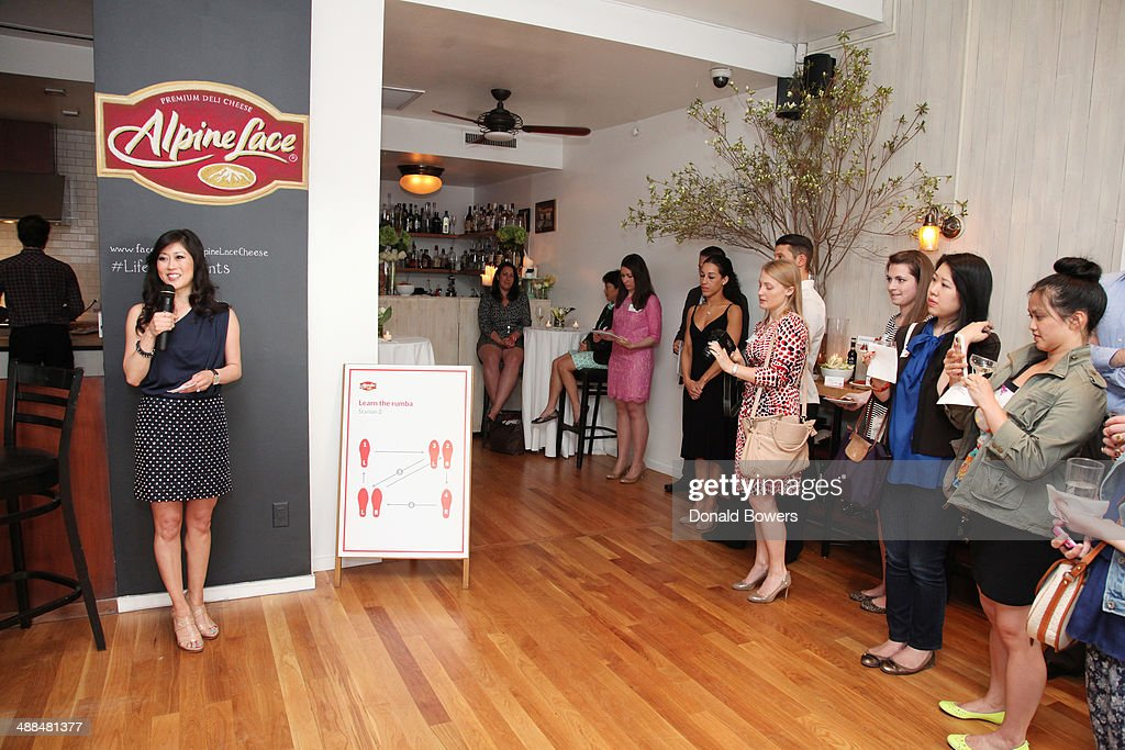 <a gi-track='captionPersonalityLinkClicked' href=/galleries/search?phrase=Kristi+Yamaguchi&family=editorial&specificpeople=234361 ng-click='$event.stopPropagation()'>Kristi Yamaguchi</a> welcomes guests to the Alpine Lace Deli Cheese event on May 6, 2014 in New York City.