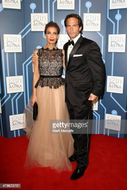 Kristian Alfonso and Shawn Christian arrive at the 12th ASTRA Awards at Carriageworks on March 20 2014 in Sydney Australia