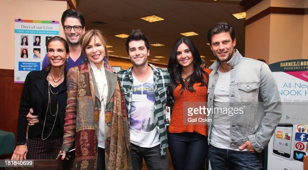 Kristian Alfonso James Scott Lauren Koslow Freddie Smith and Camila Banus cast members of Days of Our Lives pose for a picture before signing...