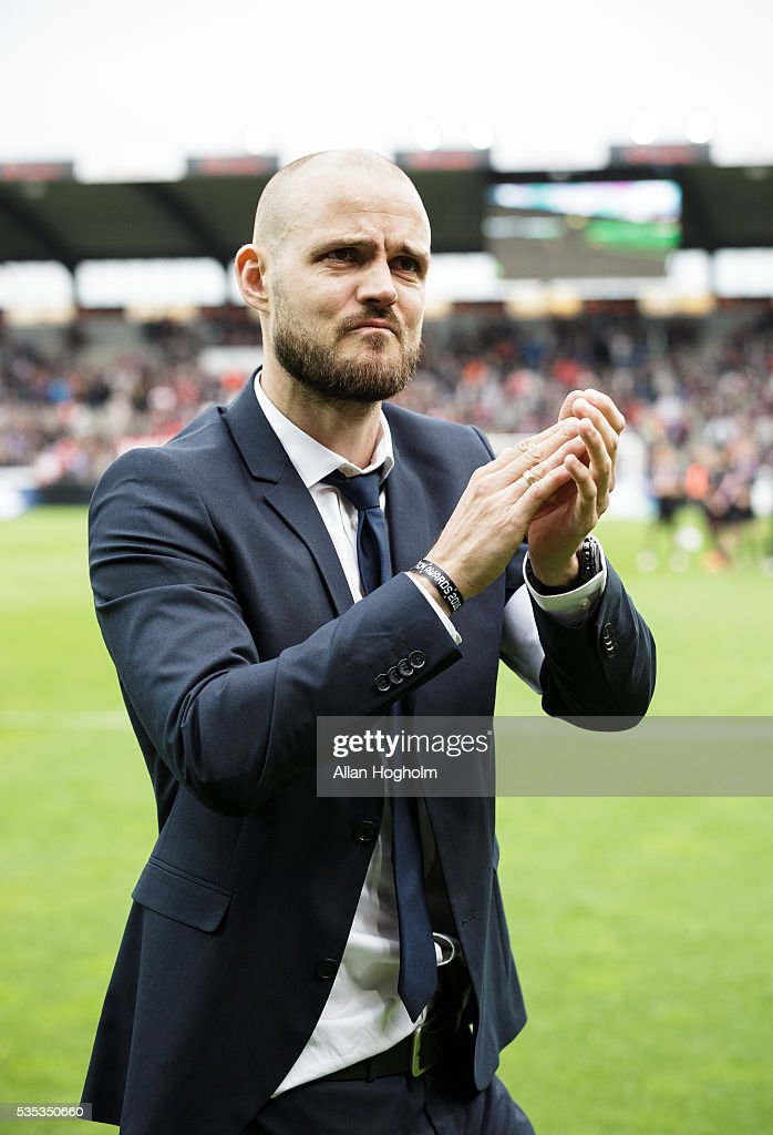 Kristian Bach Bak of FC Midtjylland after the Danish Alka Superliga match between FC Midtjylland and FC Nordsjalland at MCH Arena on May 29, 2016 in Herning, Denmark.