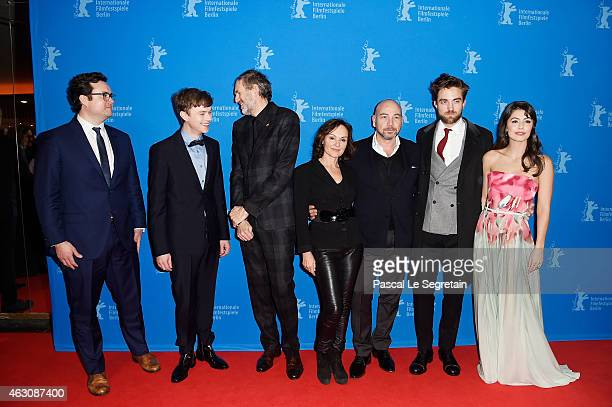 Kristian Bruun Dane DeHaan Anton Corbijn guest Iain Canning Robert Pattinson and Alessandra Mastronardi attend the 'Life' premiere during the 65th...