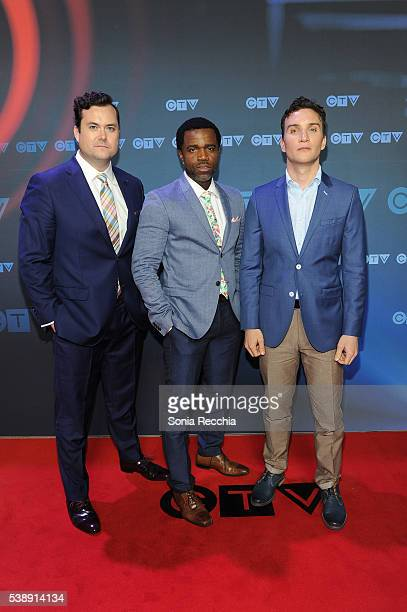 Kristian Bruun Kevin Hanchard and Ari Millen attend CTV Upfronts 2016 at Sony Centre for the Performing Arts on June 8 2016 in Toronto Canada