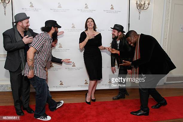 Kristian Bush of Sugarland Dee Brown Brandon Bush of Sugarland Michele Rhea Caplinger Senior Executive Director Atlanta Chapter of The Recording...