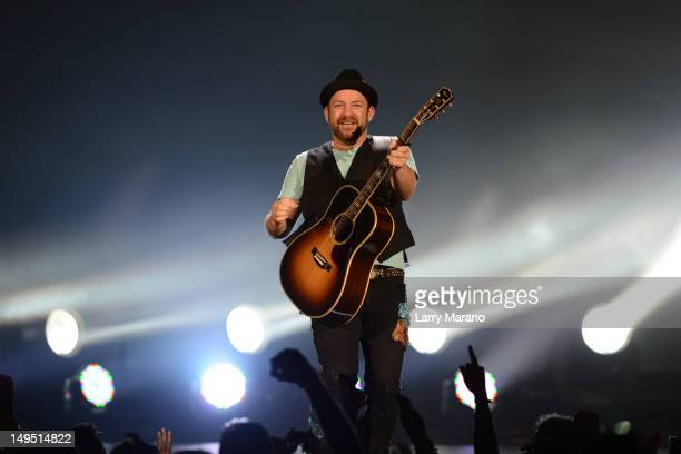 Kristian Bush of Sugarland performs at Cruzan Amphitheatre on July 29 2012 in West Palm Beach Florida