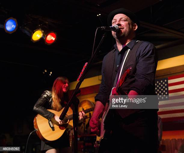 Kristian Bush performs at Goodwill Industries International #GiveItAway Concert at Big Texas Dancehall on December 11 2014 in Webster Texas