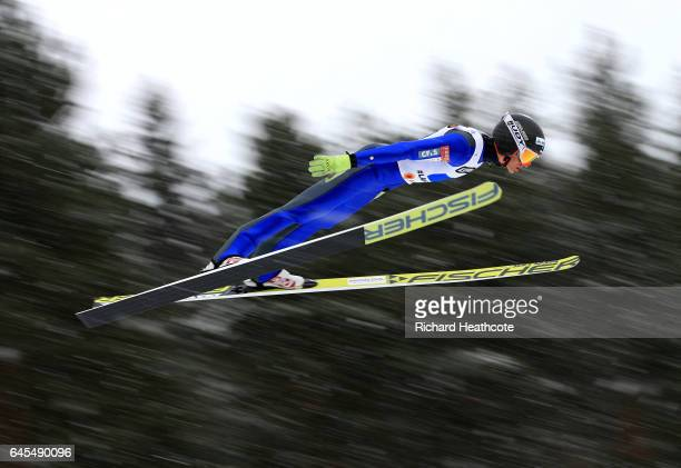 Kristian Ilves of Estland competes in the Men's Nordic Combined Team HS100 during the FIS Nordic World Ski Championships on February 26 2017 in Lahti...
