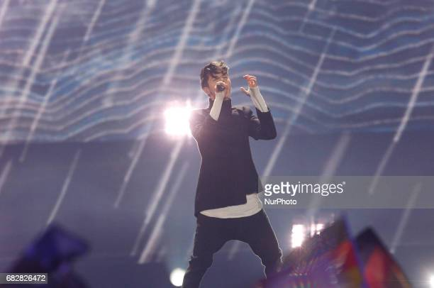 Kristian Kostov from Bulgaria performs with the song quotBeautiful Messquotduring the Grand Final of the Eurovision Song Contest in Kiev Ukraine 13...