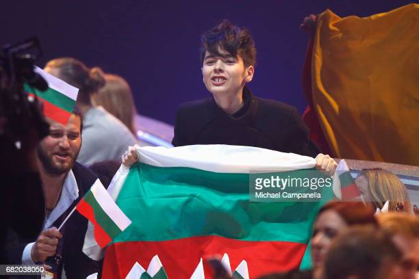 Kristian Kostov representing Bulgaria during the second semi final of the 62nd Eurovision Song Contest at International Exhibition Centre on May 11...