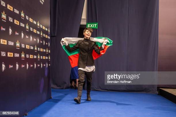 Kristian Kostov the contestant from Bulgaria arrives for the postshow press conference following the second Eurovision semifinal on May 11 2017 in...