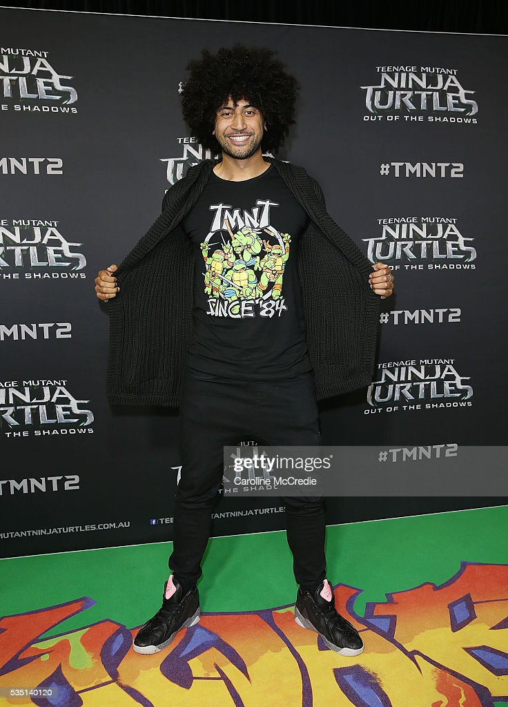 Kristian 'Krit' Schmidt arrives ahead of the Australian premiere of Teenage Mutant Ninja Turtles 2 at Event Cinemas George Street on May 29, 2016 in Sydney, Australia.